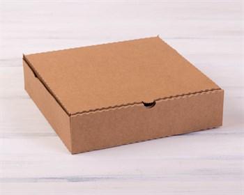 УЦЕНКА Коробка для пирога 24х24х6 см из плотного картона, крафт - фото 7677