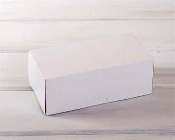 Коробка для выпечки и пирожных, 20х10х7,5 см, белая - фото 7689