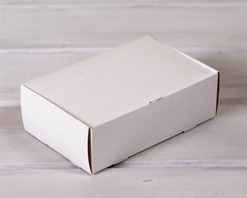 Коробка для выпечки и пирожных, 18,5х12,2х6 см, белая - фото 7696