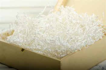 Наполнитель бумажный №008  Белый снег, 100 грамм - фото 7733