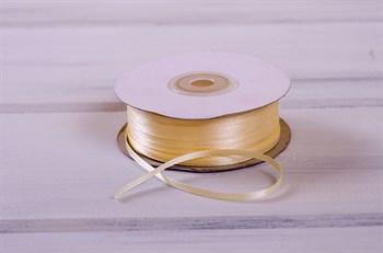 Лента атласная, 3 мм, светло-персиковая, 1 м - фото 7757