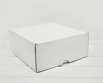УЦЕНКА Коробка для посылок, 24х24х10 см, из плотного картона, белая - фото 7822