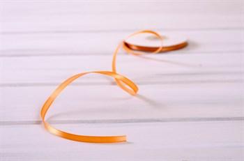 Лента атласная, 6 мм, персиковая, 27 м - фото 7896