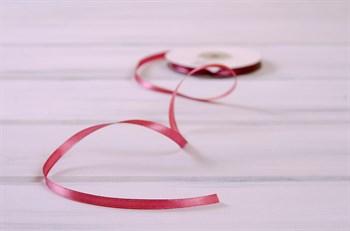 Лента атласная, 6 мм, розово-коричневая, 1 м - фото 7909