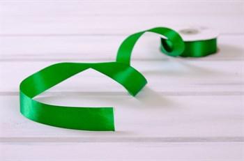 Лента атласная, 24 мм, зеленая, 27 м - фото 7932