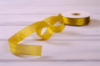 Лента металлизированная, 24 мм, золотая, 27 м - фото 7976