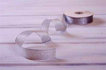 Лента металлизированная, 24 мм, серебряная, 1 м - фото 7977