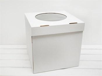 Коробка для торта, 31х31х31 см, с прозрачным окошком, белая - фото 8148