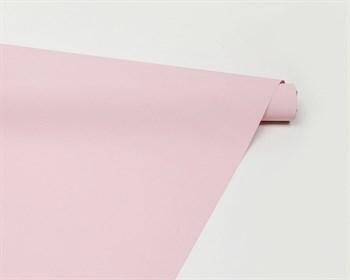 Пленка матовая, 50см х 10м, розовая, 1 рулон - фото 8241