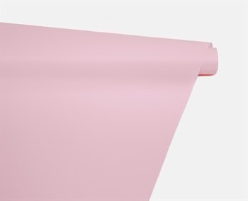 Пленка матовая, 59см х 10м, розовая, 1 рулон - фото 8315