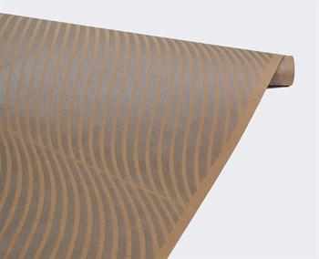 Бумага упаковочная, волна серебряная, 70см х 10м, крафт, 1 рулон - фото 8321