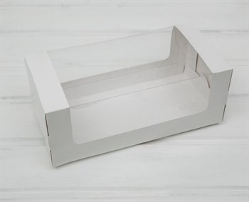 Коробка для выпечки, 25х12х10 см, с круговым окном, белая - фото 8340