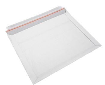 Конверт картонный 26,5х34 см, белый (силиконовая лента) - фото 8356