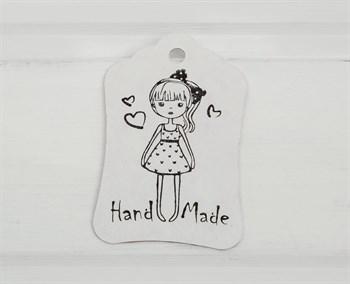 Бирка картонная,  Кукла , 8х5 см, белая - фото 8377