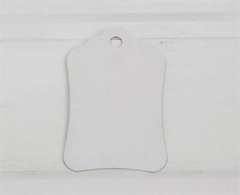 Бирка картонная, 8х5 см, белая - фото 8398
