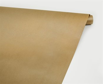 Бумага упаковочная, 70 гр/м2, золотая , 70см х 10м, 1 рулон - фото 8406