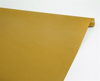Бумага упаковочная, 70 гр/м2, горчичная , 70см х 10м, 1 рулон - фото 8410