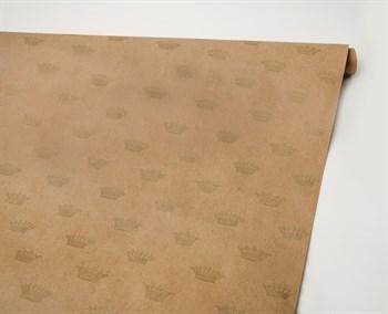 Бумага упаковочная, 70г/м2, короны, 72см х 10м, 1 рулон - фото 8423