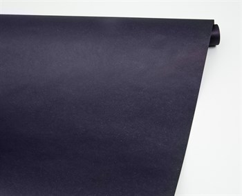 Бумага упаковочная, 70 гр/м2, темно-синяя , 70см х 10м, 1 рулон - фото 8439