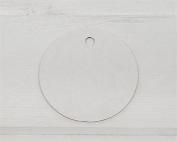 Бирка картонная, круглая, d=6 см, белая - фото 8475
