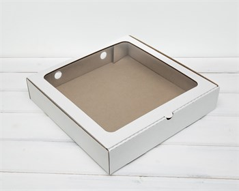 УЦЕНКА Коробка с окошком, 30х30х6 см, белая - фото 8484
