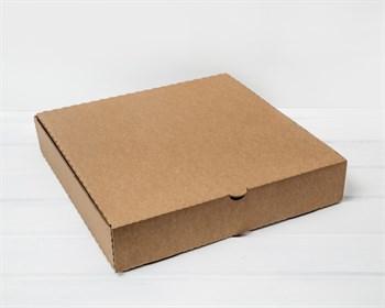 Коробка для пирога 35х35х7 см из плотного картона, крафт - фото 8490