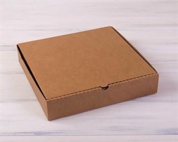 УЦЕНКА Коробка для пирога 30х30х6 см из плотного картона, крафт - фото 8561