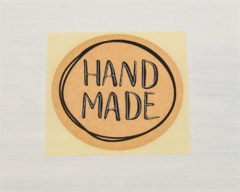 "Наклейка ""Hand made"", круглая, d=4 см, 1 шт. - фото 8645"