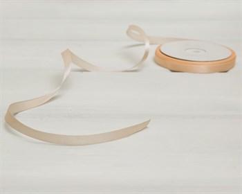 Лента атласная, 10 мм, светло-персиковая, 1 м - фото 8687
