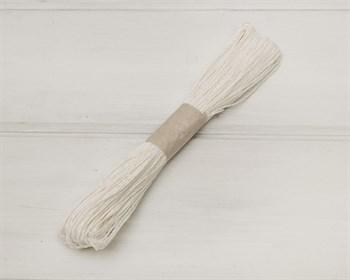Шнур бумажный, белый, 47м - фото 8693