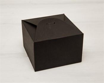 Коробка маленькая, 9х9х6 см, из тонкого картона, черная - фото 8703