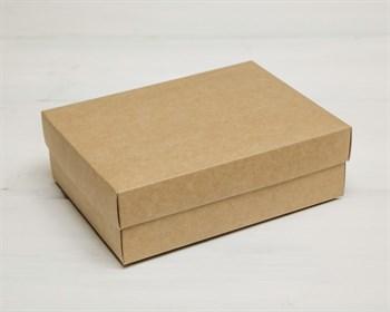 Коробка из мелованного картона, 16,5х12,5х5,2  см, крышка-дно, крафт - фото 8709