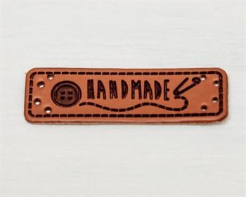 Нашивка  «Hand made» булавка, 5х1,5 см, 1 шт. - фото 8718