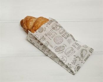 "Пакет бумажный без дна ""Snacks"", 17,5х10х5 см, белый - фото 8736"