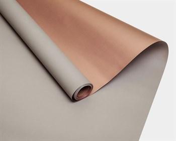 Пленка матовая, 59см х 10м, серая/розовое золото, двусторонняя, 1 рулон - фото 8773
