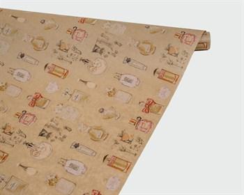 Бумага упаковочная, 40гр/м2, парфюм, 72см х 10м, 1 рулон - фото 8835