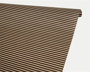Бумага упаковочная, 40гр/м2, полосы черные, 72см х 10м, 1 рулон - фото 8847