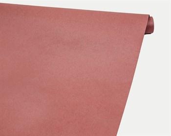 Бумага упаковочная, 70гр/м2, брусничная, 70см х 10м, двусторонняя, 1 рулон - фото 8889
