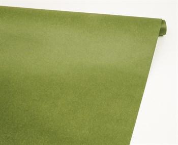 Бумага упаковочная, 70гр/м2, оливково-зелёная, 70см х 10м, 1 рулон - фото 8899