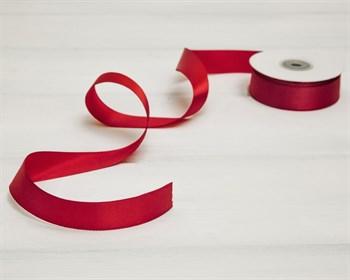 Лента атласная, 24 мм, темно-красная, 22 м - фото 8969