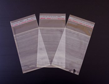 Пакет  с клейкой лентой 8,5х13 см, прозрачный, 100 шт. - фото 8977