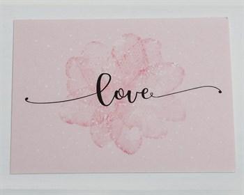 Открытка «Love, розовая», 8х6см, 1шт. - фото 8989