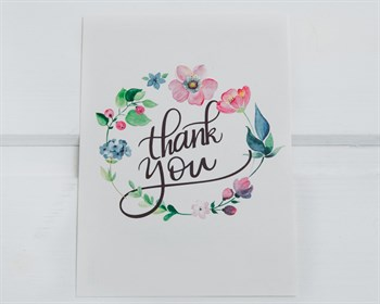 Открытка «Thank you на белом», 7,5х10,5, 1шт. - фото 9001