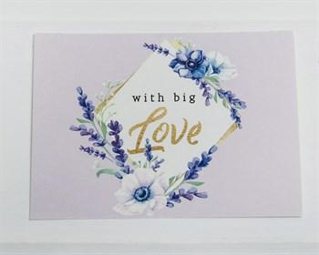 Открытка «With big Love», 8х6см, 1шт. - фото 9002