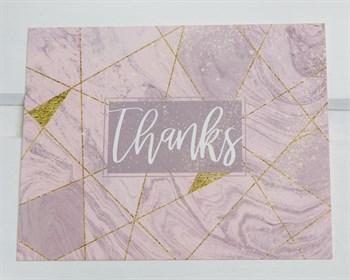 Открытка «Thanks», 8,8х10,7см, 1шт. - фото 9010