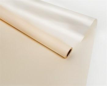 Пленка матовая, 57см х 10м, кремовая/перламутровая, двусторонняя, 1 рулон - фото 9015