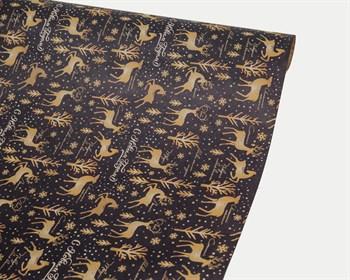 Бумага упаковочная, 50х70 см, «Зимняя сказка», крафт, 1 лист - фото 9026