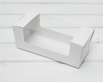 Коробка для выпечки, 20х8х8 см, с круговым окном, белая - фото 9072