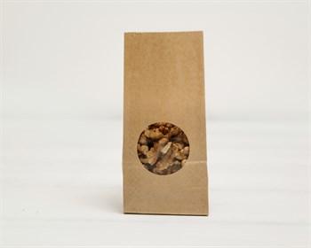 Крафт пакет бумажный с окошком 17х8х5, коричневый - фото 9094