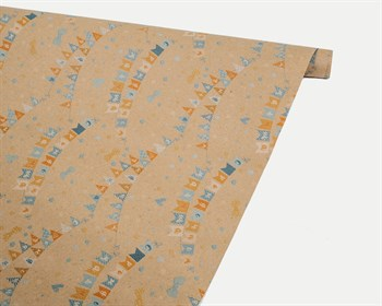 Бумага упаковочная, 50х70 см, «С рождением малыша», крафт, 1 лист - фото 9112